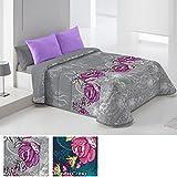 Edredón Conforter Modelo Rosal, Color GRIS (C/06), Medida Cama de 135 · 235x260cm