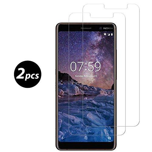 Panzerglas Für Nokia 7 Plus, [2 Stück] 9H Anti-Bläschen Gehärtetem Bildschirmschutzfolie