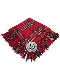 Tartanista - Fly plaid pour kilt - broche motif chardon - 5 tartans  disponibles 681cec3882e