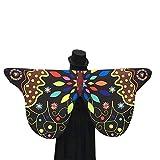 YWLINK Damen Retro SchmetterlingsflüGel Schal Fee Party Damen Karneval BüHne Leistung Kleidung FlüGel Weicher Stoff KostüMzubehöR