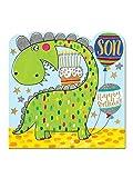 """Rachel Ellen Designs–Geburtstagskarte aus der Spirit-Serie –""""Happy Birthday Son""""–englischer Text, Dinosaurier-Motiv."""