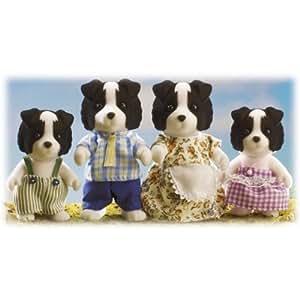 Sylvanian Families – La Famille Fletcher Border Collie – Border Collie Family (Figurines)