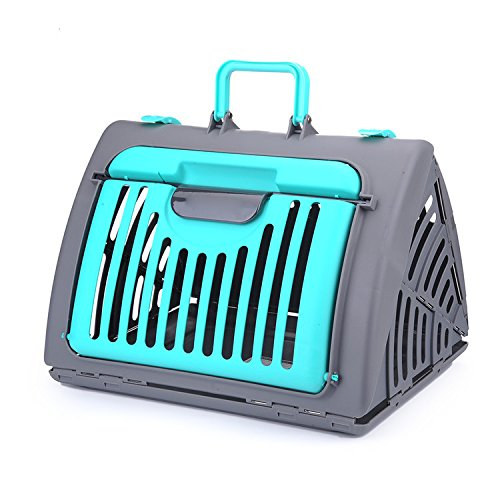 EUBeisaqi Cucciolo del Cane del Gatto Gattino dell'animale Domestico Portatile Pieghevole Durevole Pet Carrier Caso Pet Travel 45x35x33 cm-Blu