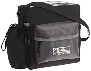 M Wave Utrecht Travel Clip On Handlebar Bag - Black