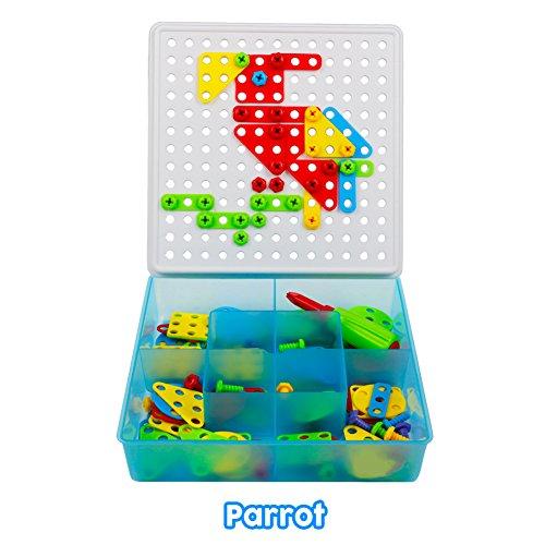Jeu de Construction Puzzle Enfant Jouet Fille Garcon 3 ans et Plus Motricité Fine Pegboard avec ...