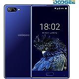 Moviles Libres Baratos, DOOGEE MIX Smartphone Libre, 4G Android 7.0 Telefonos, 4G Android 7.0 Telefonos - MediaTek Helio P25 2.5GHz - 5.5 Pulgadas AMOLED HD Pantalla - 4GB RAM + 64GB ROM - 8MP+16MP Cámara -Dual SIM - Batería de 5V 2A, 3380mAh - Huella Dactilar - (Azul)