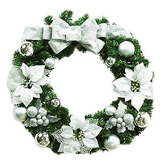 MARRYME-Festlicher-Adventskranz-Weihnachtskranz-mit-Silber-Matt-Kugel
