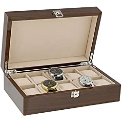 Lacquered Walnut Watch Collectors Box for 10 Wrist Watches by Aevitas