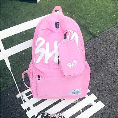 Frauen Rucksack Canvas All Seasons Sport Outdoor Shopping Wochenende Tasche Reißverschluss Blau Braun Schwarz Rot Pink Ruby Blushing Pink