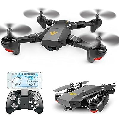 AMILE Foldable Rc Quadcopter Drone Mini RC Drone Quadcopter for Kids Foldable RC Quadcopter Drone with 2MP 120° Wide Angle, Foldable Quadcopter Drone with 720P Wifi Camera Remote Control, Gravity Sensor