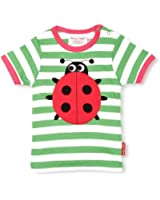 Toby Tiger Ladybird Patterned Girl's T-Shirt