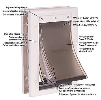 PetSafe - Porte pour Animaux pour Conditions Climatiques Extrêmes (L) - Très Isolante - Triple Protection Contre le Froid et le Chaud