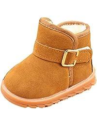 infantil mejor opción, Koly Adición de botas de algodón nieve del invierno (25, Caqui)