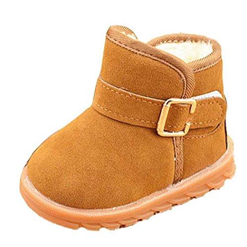 infantil mejor opción, Koly Adición de botas de algodón nieve del invierno (23, Caqui)