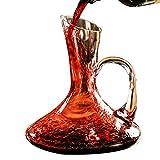 Decantador Vino, Aireador de vinos, Accesorios Vino, Decantador con Mango, Cristal, Utensilios de Bar, Accesorios de Cocina 1500ML