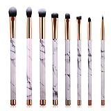 Pennelli per make-up, Pennelli per trucco a effetto scultura, Set pennelli essenziali per la cosmesi professionale, il fondotinta, l'ombretto e le labbra.