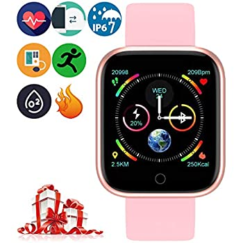 Adsvtech Smartwatch, Impermeable Reloj Inteligente Mujer ...