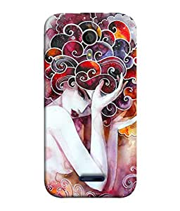 Micromax Canvas Magnus A117, Micromax A117 Canvas Magnus Back Cover Beautiful Fantasy Painting Of Lilac Flower Fairies Detailed Colorful Artwork Design From FUSON