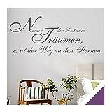 Exklusivpro Wandtattoo Spruch Wand-Worte Nimm dir Zeit zum Träumen, es ist der Weg zu den Sternen. inkl. Rakel (zit44 violett) 120 x 52 cm mit Farb- u. Größenauswahl