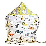 Insun 12er Set Bettumrandung Nest Kopfschutz Nestchen 32cm x 42cm Bettnestchen Baby Kantenschutz Bettausstattung Gelb Zoo