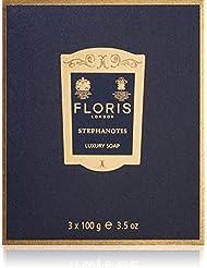 FLORIS LONDON Savons Stephanotis, 3 x 100 g