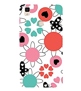 PrintVisa Designer Back Case Cover for Vivo V3Max (Animated Pattern for Kids)
