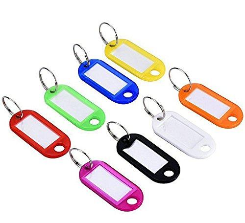 Schlüsselanhänger / Schlüsselschilder, robust und witterungsbeständig, bunt gemischt mit auswechselbarem Etikett und 2 Jahren Zufriedenheitsgarantie (Billig-keys)