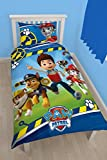 PAW PATROL Reversible Bed Linen Ryder Chase Marshall Rubble - 140 x 200 cm Pillow 70 x 90 cm - 100% Cotton