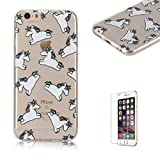 For iPhone 6 Plus 6S plus Case 5.5inch Cover [with Free Screen Protector], Funyye Fashion lovely Lightweight Ultra Slim Anti Scratch Transparent Soft Gel Silicone TPU Bumper Protective Case Cover Shell for iPhone 6 Plus/6S plus-Unicorn