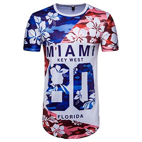 T-Shirts,Honestyi Herren Sommer Weltmeisterschaft Fußball3D-Druck ' Miami 80' -