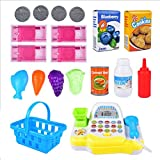 Toyvian Set di registratori di cassa giocattolo cassiere | Pretend Play Set for Kids | Giocattolo del supermercato