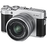 Fujifilm X-A5 Mirrorless Cameras XC15-45mm f3.5-5.6 OIS PZ Lens (Silver)