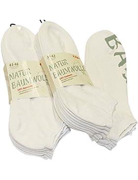 8 Paar Natur 100 % Baumwoll-Snea
