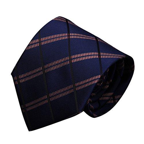 URSFUR Professionelle kleine Krawatte Blau Twill Geschäft-Kleid Bräutigam Krawatte Geschenkbox 8cm Dunkelblaues Rot 29