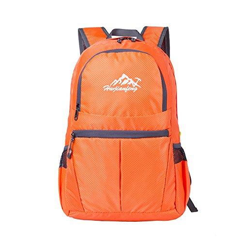 Pennello penna da viaggio zaino trekking, zaino 30L Leggero Impermeabile Zaino da arrampicata arancione Orange