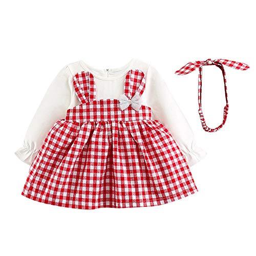 OverDose Damen 2018 Neugeborenen Baby Mädchen Cartoon Warme Prinzessin Liebhaber Print Kleid + Weste Outfits Kleidung Set(Z-Rosa,12 Monate)