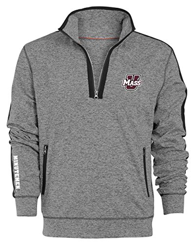 Camp David NCAA Roadster Herren Premium Quarter-Zip Pullover, Herren, Roadster, Gunpowder, Large Camp Zip Hoodie