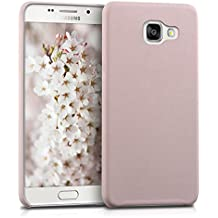 kwmobile Funda para Samsung Galaxy A5 (2016) - Case para móvil en cuero sintético - Carcasa trasera en rosa palo