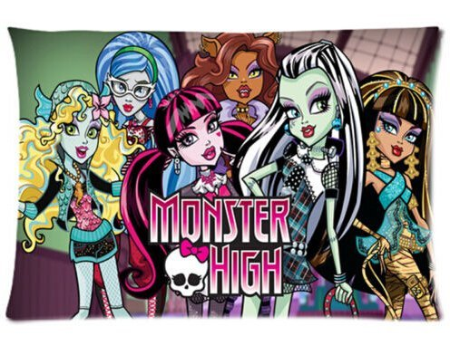 Lepilo Hot New Pillowcase Custom Monster High Rectangle Pillow Case 20x30 Inch Two ()