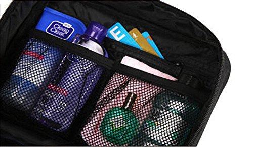 lazutom portatile grande capacità impermeabile borsa per passeggino, Beauty case da viaggio Borse da viaggio, uomo Donna, Rose Black