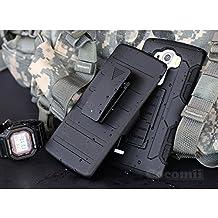 LG G4 Stylus / LG G4 Note Funda, Cocomii Robot Armor NEW [Heavy Duty] Premium Belt Clip Holster Kickstand Shockproof Hard Bumper Shell [Military Defender] Full Body Dual Layer Rugged Cover Case Carcasa LS770 H631 MS631 (Black)