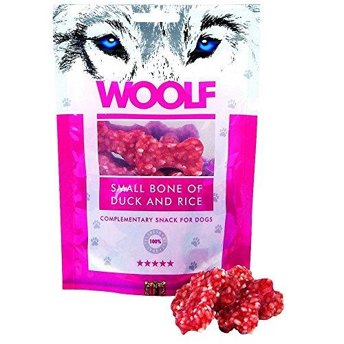 WOOLF Knochen kleine Ente und Reis 100g - Snacks für Hunde
