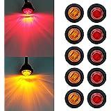 Hehemm 3/10,2cm dégagement LED Ampoule Lampe étanche côté marqueur lumières 12V (lot de 10)