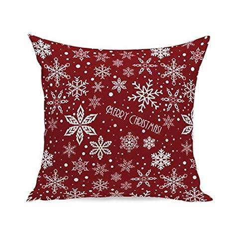 Kissenbezüge Longra Weihnachten Super Soft Quadrat TSofa Bett Home Decor Kissen Kissenbezüge decken Kissenhülle (45cm*45cm) (D)