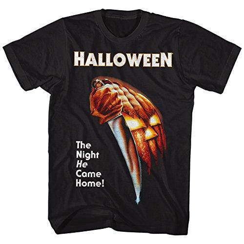 2Bhip Halloween Scary Horror Slasher Movie Franchise Film The Night Adult T-Shirt