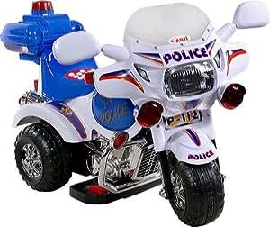 Moto électrique - Voiture - Véhicule électrique pour Enfant - Scooter Electric Ride-on ARTI mini 2126A Police white-blue