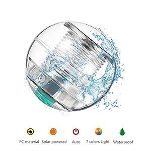 Coquimbo luci piscina solare, Colore Cambiando Impermeabile LED luci giardino solari galleggiante stagno luce per Partito, Laghetto, Piscina, Fish Tank, Giardino Decorazione (2 Pack)