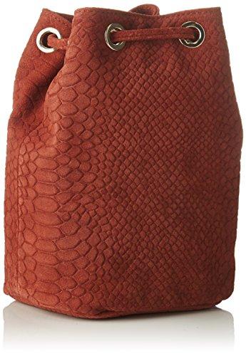 Tracolla Petite Mendigote Donna Yuzu, 7x16x15,5 Cm Rosso (bruciato)