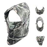 Triwonder Cagoule Cagoule Chapeau Thermique Masque Visage Masque Cou Plus Chaud Couvre-Tête Capuchon Hiver Ski Masque (ACU-11 - 280g Fleeces)