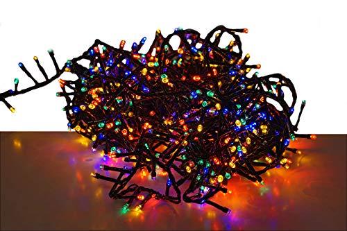 Guirlande lumineuse à LED - Multicolore - Avec puce mémoire et 8 fonctions - Pour l'intérieur et l'extérieur 20m - 1000 LED